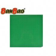 BanBao stavebnice základní deska 26x26cm zelená