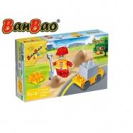 BanBao stavebnice Construction Young Ones figurka ToBees stavař s doplňky 4ks 18m+ v krabičce