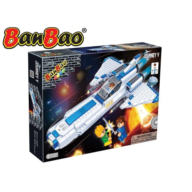 BanBao stavebnice Journey V vesmírná loď BB-127 na baterie se světlem 382ks + 3 figurky ToBees