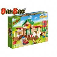 BanBao stavebnice Eco Farm farma se silem 328ks + 3 figurky ToBees v krabičce