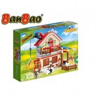 BanBao stavebnice Eco Farm farmářský domeček 315ks + 3 figurky ToBees v krabičce