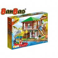BanBao stavebnice Safari lodge s ohradami 456 ks + 5 figurek ToBees