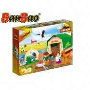 BanBao stavebnice Safari stan velký s tábořištěm 226 ks + 3 figurky ToBees v krabičce