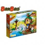 BanBao stavebnice Safari stromový domeček 212 ks + 3 figurky ToBees v krabičce