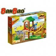 BanBao stavebnice Safari pozorovatelna s lanovým žebříkem 236ks + 2 figurky ToBees v krabičce