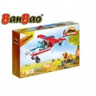 BanBao stavebnice Safari vyhlídkové letadlo 146ks + 1 figurka ToBees v krabičce