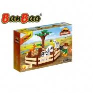 BanBao stavebnice Safari ohrada se zvířátky 136ks + 1 figurka ToBees v krabičce