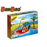BanBao stavebnice Safari člun 65ks + 1 figurka ToBees v krabičce