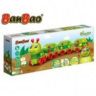 BanBao stavebnice Caterpillar Young Ones housenka ovoce 39ks s hracím plánkem 18m+ v krabičce