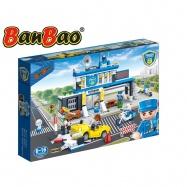 BanBao stavebnice Police policejní stanice s autem zpětný chod 938 ks + 5 figurek ToBees