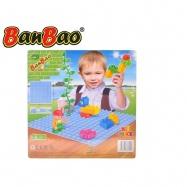 BanBao stavebnice Young Ones základní deska 25,5x25,5cm modrá 18m+