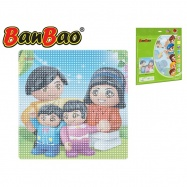 BanBao stavebnice základní deska 38,5x38,5cm transparentní v sáčku