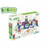 BiOBUDDi stavebnice Learning Food Young Ones ovoce 26ks + 1ks základní deska 18m+ v krabičce