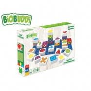 BiOBUDDi stavebnice Learning Symbols Young Ones tvary 26ks + 1ks základní deska 18m+ v krabičce