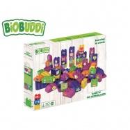 BiOBUDDi stavebnice Learning To Create Young Ones 58ks + 2ks základní deska 18m+ v krabičce