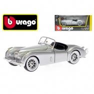 Bburago 1:24 Jaguar XK 120 Roadster (1951) stříbrný v krabičce