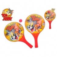 T&J plážové pálky Tom & Jerry 10m+ 2ks s míčkem v síťce