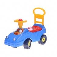 Odrážedlo auto 54cm modré s klaksonem max. 25kg 12m+ v sáčku