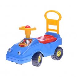 Odrážadlo auto 54cm modré s klaksónom max. 25kg 12m + v sáčku