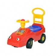 Odrážadlo auto 54cm červené s klaksónom max. 25kg 12m + v sáčku