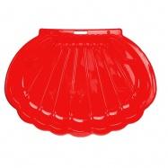 Pískoviště/bazén ve tvaru mušle 108x78x18cm červené 0m+
