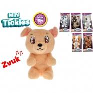 Mini Tickles plyšové zvieratko 16 cm na batérie so zvukom a smejúci sa 12m + 6 druhov v krabičke