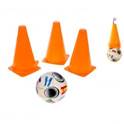 Futbalové kužele 4ks s loptičku 10m + v sieťke