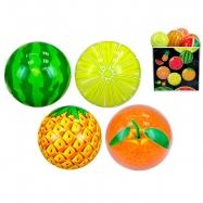 Lopta 11cm ovocie 10m + 4druhy 24ks v PDQ