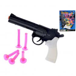 Pištoľ policajná na prísavky 21cm na karte