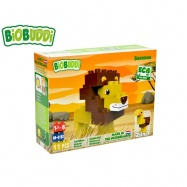 BiOBUDDi stavebnice Wildlife Savanna 2v1 lev/pštros 11ks 18m+ v krabičce