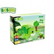 BiOBUDDi stavebnice Wildlife Swamp 2v1 želva/šnek 12ks 18m+ v krabičce