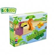 BiOBUDDi stavebnice Wildlife Lagoon zvířátka 25ks 18m+ v krabičce