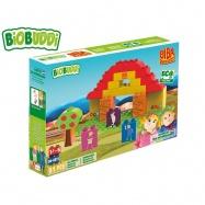 BiOBUDDi stavebnice BIBA Boerderij farma 31ks 18m+ v krabičce