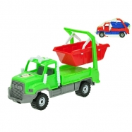 Auto nákladní s kontejnerem 25cm volný chod 2barvy v síťce
