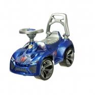 Auto odrážedlo modré 70x45x29cm s klaksonem max. 30kg v sáčku