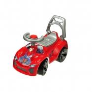 Jeździk czerwony do odpychania +pojemnik 62cm