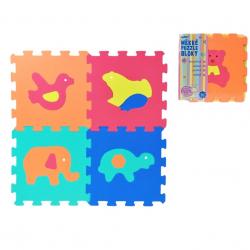 WIKY Puzzle piankowe Zwierzątka 10 szt.