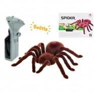 R/C pavouk 15cm na baterie se světlem v krabičce