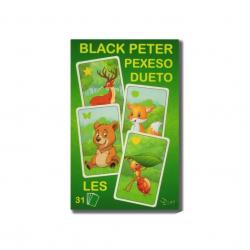 Černý Petr/Pexeso/Dueto les 3v1 7x10,5x1,5cm  31ks v krabičce