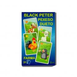 Čierny Peter / Pexeso / Dueto farma 3v1 7x10,5x1,5cm 31ks krabičke