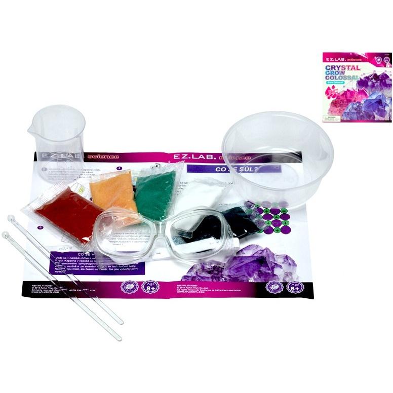 Laboratorní sada rostoucí krystaly 5barev v krabičce