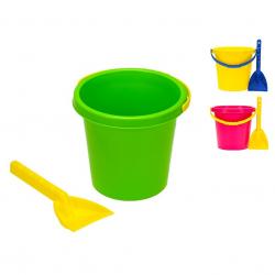 Sada na písek kbelík 17cm a lopatička 10m+ v síťce