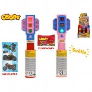 Cosby semafor 20cm na batérie so svetlom s cukrovinkou a samolepkou 6barev 12ks v DBX