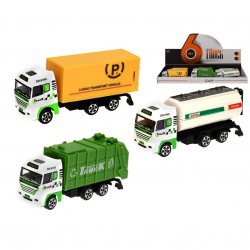 Auto nákladní kov 12cm volný chod 3druhy 12ks v DBX