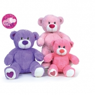 Medvídek plyšový 40cm sedící 3barvy 0m+