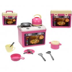 Přenosný kuchyňský set Adele - sporák s nádobím v síťce