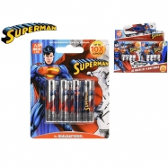 Superman batérie AA / LR6 Alkaline 1,5V 4ks na karte 10ks v DBX