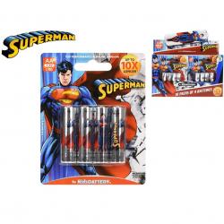 Baterie LR6 AA 4 szt. na blistrze Superman 10 szt. w disp.