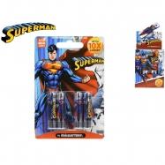 Superman baterie AAA/LR03 Alkaline 1,5V 4ks na kartě 10ks v DBX