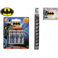 Batman baterie AA/LR6 Alkaline 4ks na kartě 10ks v krabičce